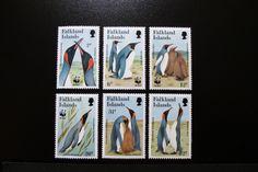 Stamp Planet Falkland Islands King Penguin 1991