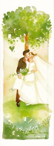 Minna Immonen - Kesähäät Wedding Art, Wedding Album, Illustrations, Illustration Art, Art Themes, Bride, Art Prints, Honeydew, Wall Art