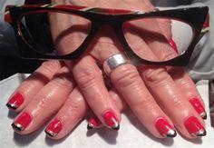 Day 237: Stripes & Spots Nail Art - - NAILS Magazine