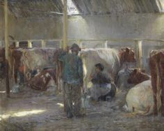 Painting by Dublin artist Walter Osborne not seen for over a century comes to light. 'Milking Time in St Marnock's Byre was last seen at the Royal Hibernian Academy in 1903.