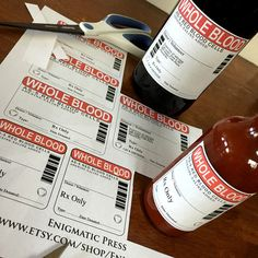 007 blood bag label template Google Search. On red wine bag
