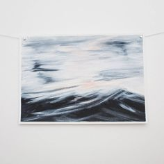Seascape painting original Ocean waves   Blue ocean beach waves acrylic modern contemporary home by RoseHewartson on Etsy