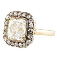Jewelry Diamond : ANTIQUE VICTORIAN Diamond Platinum Gold Ring