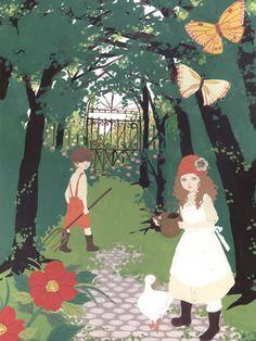 secret garden Manga Illustration, Photo Illustration, Work Pictures, Art Themes, Whimsical Art, Heart Art, Kinder Art, Art Forms, How To Draw Hands