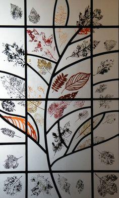Autumn door panel - Emma Butler-Cole Aiken Stained Glass