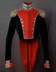 General Uniform  Russia. 19th Century	 Cloth, woollen cloth with twill weave, metal thread and copper; embroidered and gilded.