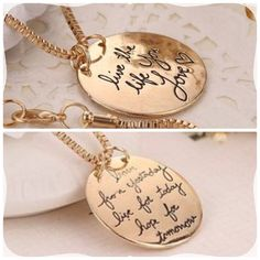 """Double Sided Necklace New gold tone quote necklace. Chain is 20"""" Bundle and save! Jewelry Necklaces"""