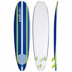Wavestorm 8' Surfboard, Pinstripe Graphic