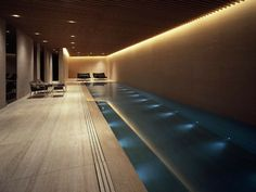 37 Fantastic Indoor Pool Design Ideas - Your house is huge and you want to do something to fill up the wasted space on the first floor so you may decide you want to start picking out indoor . Swimming Pool Lights, Indoor Swimming Pools, Swimming Pool Designs, Lap Pools, Backyard Pools, Pool Decks, Pool Landscaping, Pool Spa, Langer Pool