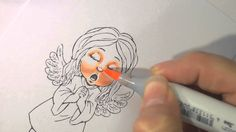 Copic Marker Tutorial - Facial Features - Colouring Skin