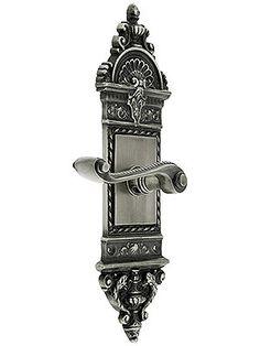 Custom Door Knob. European Door Set With Rope Lever Handles.