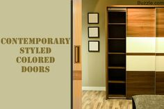 Contemporary Styled Colored Doors