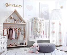 17 Designs para decorar o quarto da sua filha, quando ela é um bebê