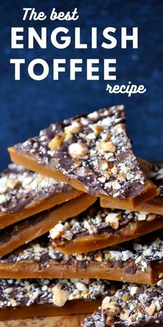 Holiday Desserts, Holiday Baking, Just Desserts, Delicious Desserts, Easy Christmas Baking Recipes, How To Make Desserts, Holiday Candy, Homemade Toffee, Homemade Candies