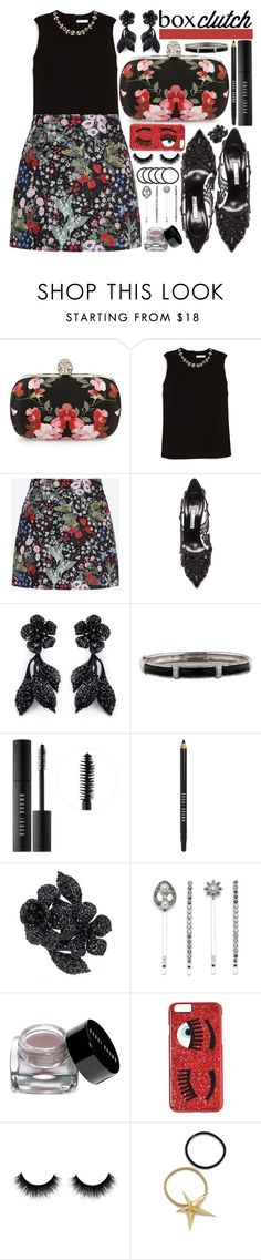 """Box Clutch: Flowers"" by beautifully-eclectic ❤ liked on Polyvore featuring Alexander McQueen, Erdem, Valentino, Oscar de la Renta, Bobbi Brown Cosmetics, Lonna & Lilly, Chiara Ferragni, Pluie, women's clothing and women's fashion"