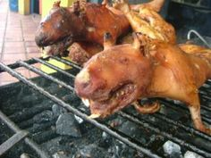 Cuy - grilled guinea pig - is a delicacy many 'gringos' have some difficulty with!