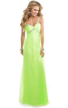 Hot Selling One Shoulder Floor-length Beading Dress, Buy Prom Dresses