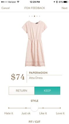 Papermoon Atta Dress - very cute! - Really, really want to see this in my next fix!!