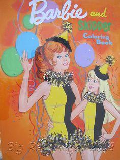 Vintage - Barbie and Skipper Coloring Book