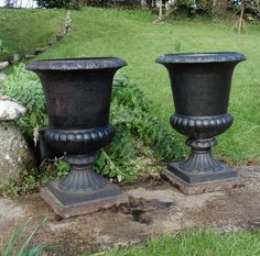 Delicieux Antiques Atlas   Pair Large Victorian Iron Urns Garden Planters Victorian  Irons, Urn Planters,
