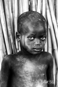 Mundari eyes, Terekeka - A young boy from the Mundari tribe in Terekeka, South Sudan