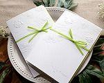 pure white invitation/greeting/wedding card with green bow-tie Green Bow Tie, Wedding Greetings, Craft Gifts, Wedding Cards, Bows, Invitations, Pure Products, Pure White, Crafts