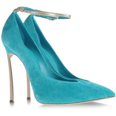 thenotoriouskdg:  CASADEI Closed toe   ❤ liked on Polyvore (see more strap pumps)
