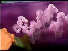 Bob Ross - Painting Purplish Clouds - Painting Video