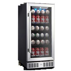 Kalamera 15 Beverage cooler 96 Can Built-In Single Zone Touch Control - Beverage Refrigerator - Ideas of Beverage Refrigerator Beer Fridge, Beverage Refrigerator, Compact Refrigerator, Mini Fridge, Built In Wine Cooler, Beer Cooler, Beverage Center, Magic Chef, Wine Collection