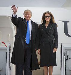 Donald J. Trump and Melania Trump arrive for Inauguration, Andrews AFB, 2017 Photo Donald And Melania Trump, First Lady Melania Trump, Donald Trump, Trump Melania, Kate Bennett, Trump Is My President, Trump New, Standing Poses, Kardashian