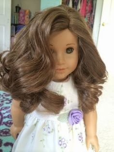 How to wash and condition American Girl hair Who knew? Wig shampoo and conditioner and sponge curlers.