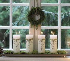Getting into the spirit of Christmas - Adventslys (Advent lights in Danish). Velas de Adviento