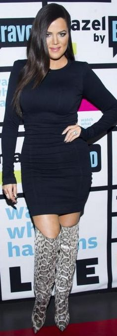 Khloe Kardashian: Dress – Thatcher    Shoes – Tom Ford