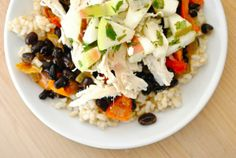 Black Beans and Rice with Chicken and Apples