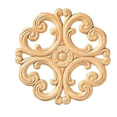 Ornamental Mouldings, in. Birch Victorian Rosette Onlay Ornament Moulding, at The Home Depot - Mobile Corner Moulding, Panel Moulding, Wall Molding, Moldings And Trim, Rococo, Fireplace Mantel Surrounds, Ceiling Materials, Chair Rail Molding, Wood Appliques