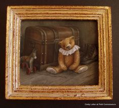 """""""Toby living in the Attic"""" by Cindy Lotter Miniature"""