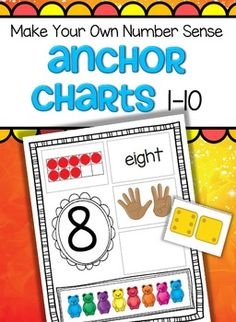 *** FREE***  Make Your Own Number Sense Anchor Charts 1-10 for preschool, pre-K and Kindergarten.