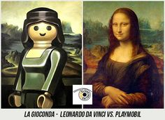 37 Obras de Arte Clasicas hechas con Playmobil / 37 Classical Artworks remakes with Playmobil Steampunk, Star Wars Personajes, Photoshop, Mona Lisa, Painting, Artwork, Projects, Lego, Illustrations