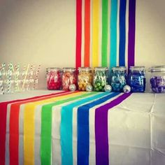 Rainbow party decore