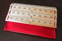 DIY  Ruler Clutch Purse