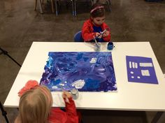 A wonderful time-lapse video of the evolution of this collaborative painting-on Our Preschool Journey blog