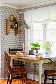 Country Dining Room In The Kitchen