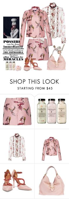 """""""Busy Bird- summer office look"""" by juliabachmann ❤ liked on Polyvore featuring Giamba, Malone Souliers and Gucci"""