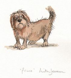 Prince by Anita Jeram Animal Drawings, Cartoon Drawings, Art Drawings, Children's Book Illustration, Watercolor Illustration, Book Illustrations, Anita Jeram, Children's Picture Books, Cartoon Dog