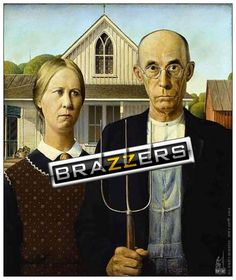 NEW AMERICAN GOTHIC  RON'S ART© American Gothic, Motivational Pictures, Funny Pictures, Lol, Humor, Classic, Movie Posters, Image, Fanny Pics