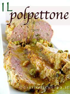 Polpettone di Carne con Piselli Carne, Meatloaf, Mamma, Steak, Pork, Cooking, Recipes, Daily Journal, Kale Stir Fry