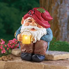 Happy Hour Beer Mug Solar Gnome Statue from Collections Etc. Yard Gnomes, Funny Garden Gnomes, Gnome Garden, Funny Gnomes, Gnome Statues, Garden Statues, Biker Gnomes, Gnome Village, Gnome Paint