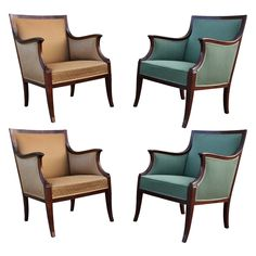 Set of Four Frits Henningsen Chairs | From a unique collection of antique and modern chairs at https://www.1stdibs.com/furniture/seating/chairs/