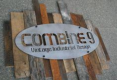 Custom Signs Urban Modern Industrial Vintage Reclaimed Wood Commercial Steel | eBay
