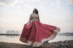 the girl from FUSS, FUSS, JADE, indian wear, ethnic, designer, jaipur, india, rhea gupte, black lipstick, bob, fringe, fashion, editorial, rajasthan, jal mahal